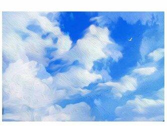 どこまでも青 【A3】サイズ の画像