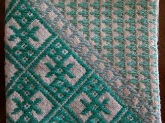 こぎん刺し コースター⑪ あずみ野木綿の画像