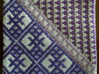 こぎん刺し コースター⑫ あずみ野木綿の画像