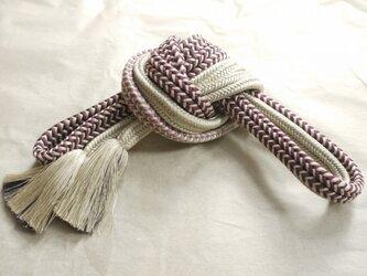 手組み正絹組紐【ゆるぎ(3色)】003M008025の画像