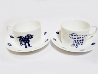 J様オーダー品Pair Dog Cups 犬のペアカップの画像