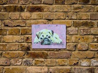 Pug パグのスプレーアート作品。の画像