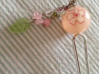 桜のかんざしの画像