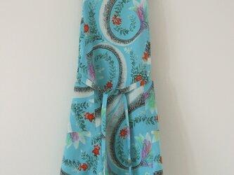 鮮やか海色浴衣地からのエプロンの画像