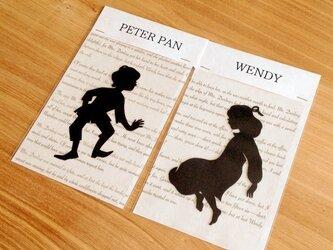 切り絵のしおりセット●ピーター・パンとウェンディの画像