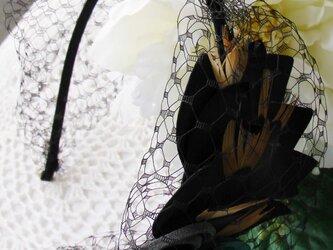 リボン風ヘッドアクセの画像