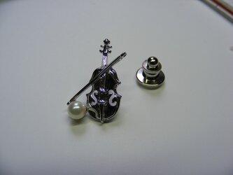 ヴァイオリンと真珠の画像