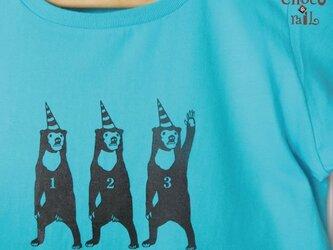 サーカス マレー熊さんTシャツ(ミントブルー)の画像