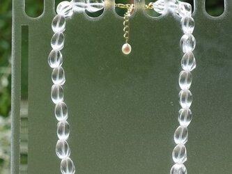 水晶のネックレス(ツイスト)の画像