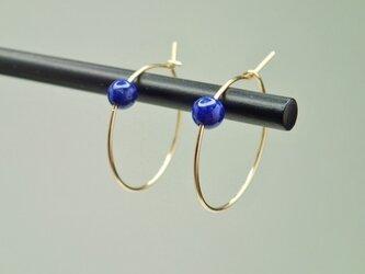 14kgf one stone hoop piercedの画像