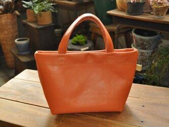 【受注生産】ミニトートバッグ(オレンジ)の画像