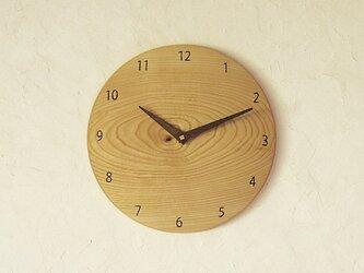 掛け時計 丸 セン材の画像