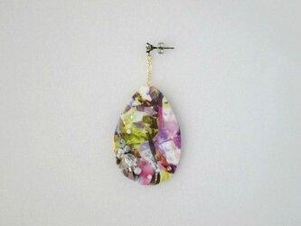 宝石模様ピアス Color drop(LIBERTY)受注製作の画像