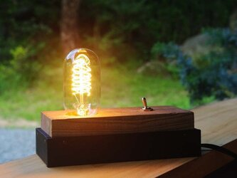 wood  cube lampの画像