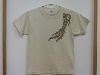 ティラノサウルス Kids Tシャツ(ベージュ)の画像