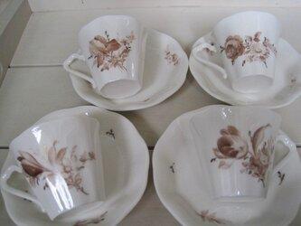 草花のカップ&ソーサーセット1の画像