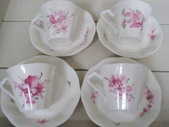 草花のカップ&ソーサーセット2の画像
