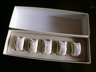 でんでんねこ★シンプル(5匹ギフト)※専用箱(白×白)入りの画像