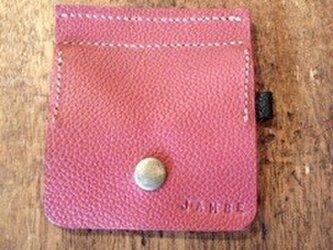 2色のコインケース(赤茶/黒)の画像