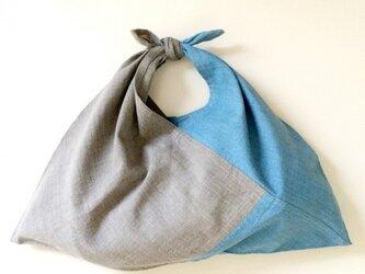 絣あずま袋 (薄藍染 x 墨染)の画像
