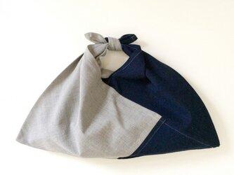 絣あずま袋 (濃藍染 x 墨染)の画像