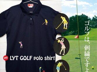GOLF 3 刺繍 ポロシャツの画像