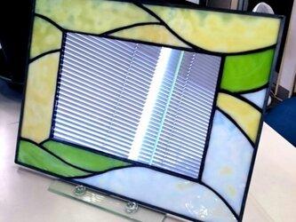 ステンドグラス 鏡の画像