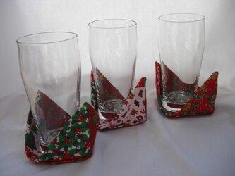 クリスマス コースター 3枚組の画像