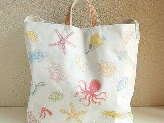 オリジナル海中プリント トートバッグ[pink]の画像