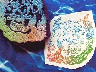 【送料無料】人魚姫の魚のロマンチックなはんこの画像