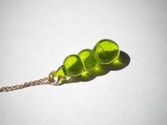 mokomoko glass   ペンダント ライトグリーンの画像
