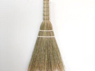 三角ホウキ size:S 白糸編み(sankaku broom white size:S)の画像