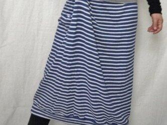 《sold out》個性的サロンのようなロングスカート ボーダーニットでの画像
