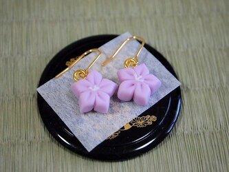 和菓子のピアス(キキョウ)の画像