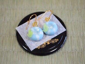 和菓子のピアス(アサガオ)の画像