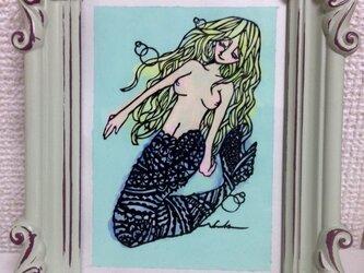 切り絵:人魚姫の祈りの画像