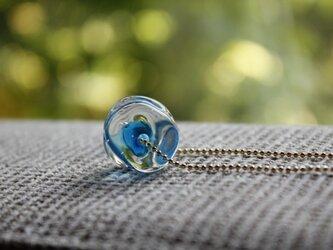 蜻蛉玉のネックレス*ブルーの画像