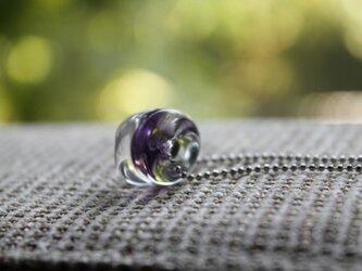 蜻蛉玉のネックレス*パープルの画像