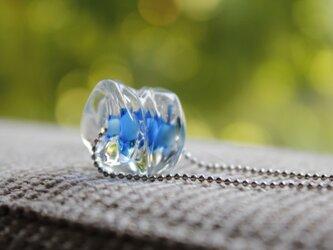 蜻蛉玉のネックレス*ブルー02の画像