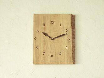 掛け時計 とち材の画像