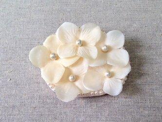1点もの❁小さな花のバレッタの画像