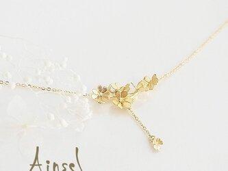 クローバー畑のネックレスA  (gold)の画像