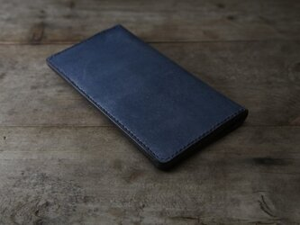[受注生産] 藍染め革 長財布の画像
