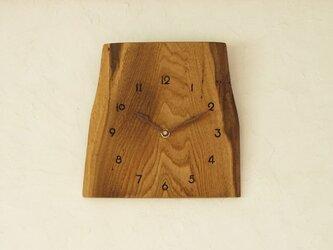 掛け時計 栗材の画像