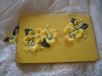 黄色のお花ノートの画像