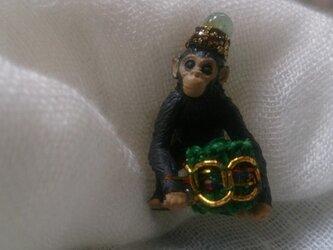サーカス団のチンパンジーのピンズの画像