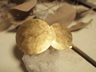 真鍮 お月様★バレッタ 大きな月が上の画像