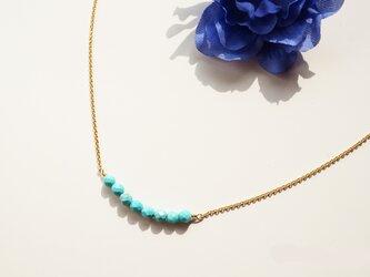 ターコイズネックレス Turquoise necklace N0011の画像