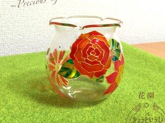 キャンドルホルダー ☆ 花園 ☆ 金魚鉢形の画像