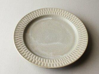 8寸リム皿 グレーの画像